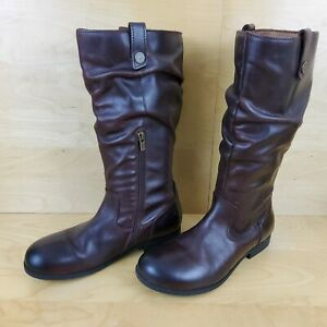 BIRKENSTOCK SARINA HIGH WOMENS LADIES BROWN LEATHER BOOTS SIZE UK 5.5 EUR 39