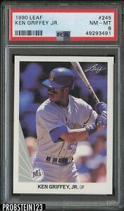 1990 Leaf #245 Ken Griffey Jr. Seattle Mariners HOF PSA 8 NM-MT