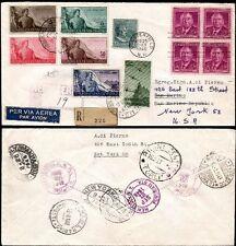 San Marino - 1948 - Raro aerogramma certificato Raybaudi - rispedizione