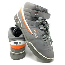 Fila Mens F-13 Shoes Grey Orange White Size 9.5