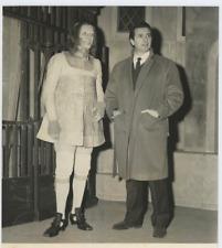 Venise,Ténor italien Franco Corelli et l'acteur Sergio Fantoni  Vintage sil