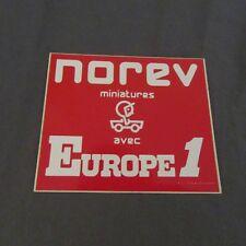124F Autocollant Norev Miniatures avec Europe 1 10 X 8,6 cm
