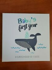 New listing Baby First Year Memory Book A Simple Of Firsts - Little Captain