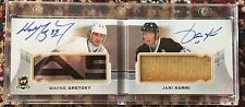 2015-16 Upper Deck The Cup Wayne Gretzky Jari Kurri Auto Stick 1/5 Booklet
