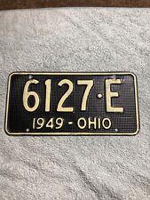 1949 Ohio Aluminum Waffle Style License Plate 6127-E