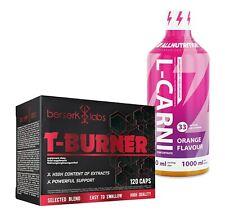 T-Burner PROFESSIONELLER FATBURNER 120kaps + L-Carnitin - L-CARNI 1000ml