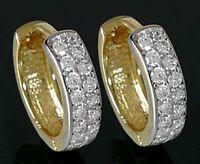 ECHT GOLD *** Zirkonia Creolen 14 mm