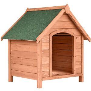 Caseta para Perros Casa Animales Mascota Madera Exterior Patio Jardín Resistente