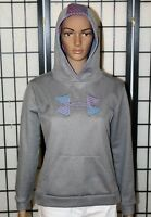 Girls UNDER ARMOUR STORM Hoodie Youth YXL Gray & Pink Loose Fit Pullover EUC