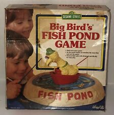 Vintage 80s BIG BIRD'S FISH POND GAME Complete In Box Sesame Street LEWCO 1988