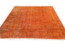 """9'1"""" X 7'4""""   Turkish Vintage red  color reform   ushak Overdyed rug carpet"""