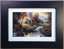 "Thomas Kinkade Framed print ""Mountain Retreat"" - NEW"