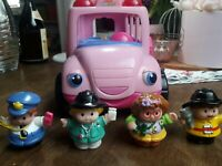 Fisher Price Little People Bus rosa mit 4 Figuren
