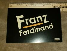 Franz Ferdinand 2 sided promo postcard free Us shipping
