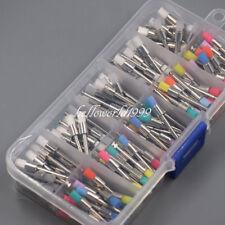 200 Pcs Dental White & Colorful Nylon Latch Flat Polishing Polisher Prophy Brush