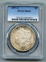 1897 S Morgan Silver Dollar PCGS MS 63