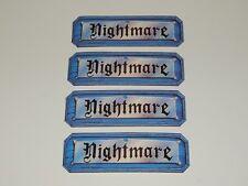 Nightmare Video Board Game 1991 Nightmare Cards Set of 4