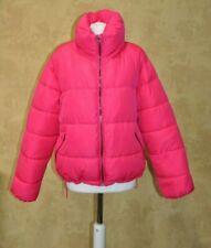 Glamorous Ladies Puffer Jacket Winter UK 14 Neon Pink