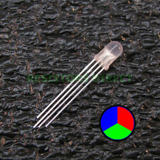 100pcs RGB LED Diffused Lens 5mm Common Anode 4-Pin Red Green Blue USA 100x V30