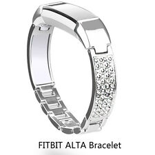 Replacement Bracelet Wristband Buckle Diamond Stainless Steel For Fitbit Alta