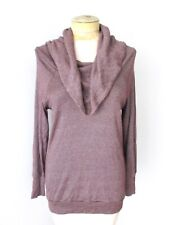 Michael Stars huge cowl neck purple sparkle stretchy knit tunic top One Size OS