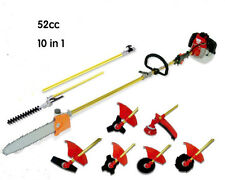 Hedge strimmer 52CC 2-STROKES 10 in1 Multi brush cutter grass trimmer lawn mower