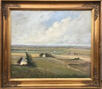 Oil Painting Wide Landscape 1919 Armington? Signed Prunkrahmung 77 x 89
