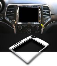 Chrome Interior Center Console GPS Panel Trim For Jeep Grand Cherokee 2014-2017