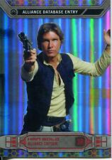 Star Wars Chrome Perspectives Gold Refractor Parallel Base #3R Han Solo