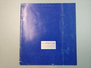 NICE ORIGINAL VINTAGE PORSCHE 911SC 930 EMBOSSED BLUE COLOR SALES BROCHURE 1983