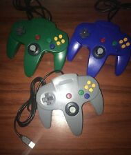 2x Brand New Multiple Colours Nintendo 64 usb controllers