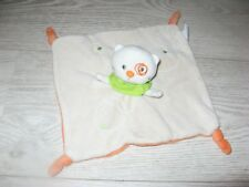 doudou chat blanc beige dessous orange creativtoys kitchoun