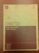Caterpillar Parts Manual Forklift F40, F50, F60 (HMBN2573)