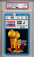 1993 NBA Finals Chicago Bulls vs Phoenix Suns GM 4 Ticket Stub PSA #5041 Jordan