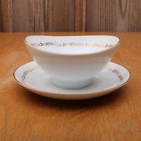 Mikasa Stanton 5405 Gravy Sauce Bowl Gold Flowers