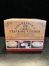 Thermometric Milk Frothing Pitcher Williams-Sonoma Stainless Steel NIB
