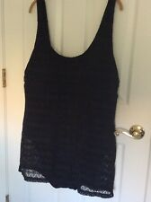 Boutique WOMENS PLUS SWIMSUIT SLIMMING BLACK One Piece W Lace Overlay SZ 3X NEW
