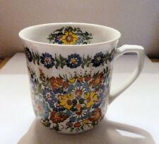 Ceramic 1997 Handpainted FLORAL CUP MUG Artist Signed
