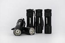 5x 9LED UV Taschenlampe Leuchte Lampe Prüfgerät Flashlight Alu Robust Haltbar