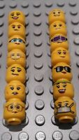 14 NEW UNUSED LEGO Female Minifigure Heads / 14 Different Faces Job lot Bulk
