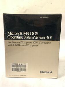 "Microsoft MS-DOS 4 4.01 - 5.25"" disks - Sealed"