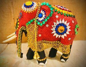 Sri Lankan Handmade Traditional Wooden Home Decor Elephant Ceylon Statue Gift
