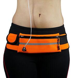 Running Belt Waist Pack Bag Sport Fitness Phone Pouch with Water Bottle Holder