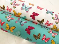 Latest 100% Cotton Poplin Fabric Rose & Hubble Bright Butterflies Fluttering