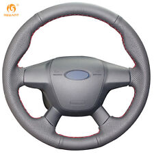 Black Leather Steering Cover for Ford Focus 3 2012-2014 KUGA Escape 2013-2016
