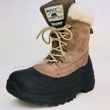 Grizzly Cedar Suede Boots Size 10 Wos Thinsulate Faux Shearling Boot  EXCELLENT