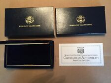 1994 World Cup 3-Coin Proof Gold/Silver Box + COA - NO COIN