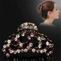 Hair Claw Rhinestone Large Acrylic Women Accessories Elegant Clamp Clip Hairpin