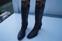 TAMARIS Damen Winter Schuhe Stiefel Boots schwarz Gr.41 leicht gefüttert Leder