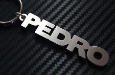 PEDRO Personalised Name Keyring Keychain Key Fob Bespoke Stainless Steel Gift